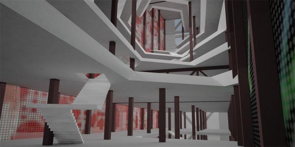 Interior atrium render.