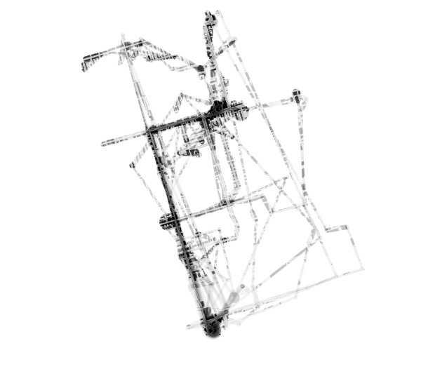Compiled Automatic GPS Data, City Inhabitation Map February, 2013